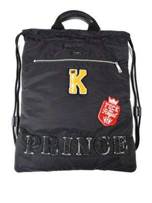Dolce & Gabbana: backpacks - Prince patch nylon backpack