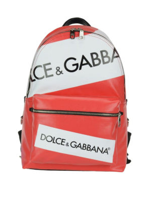 Dolce & Gabbana: backpacks - Red Vulcano logo backpack