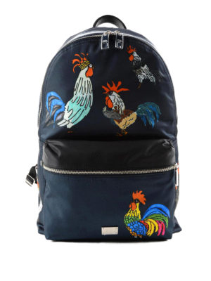 Dolce & Gabbana: backpacks - Vulcano cockerel print backpack