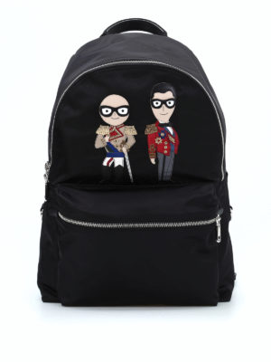 Dolce & Gabbana: backpacks - Vulcano designer patch backpack