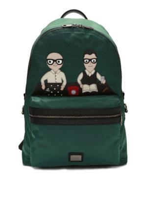 Dolce & Gabbana: backpacks - Vulcano designers patch backpack