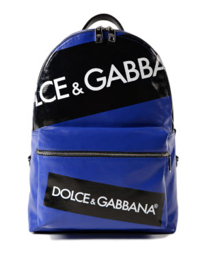 Dolce & Gabbana: backpacks - Vulcano logo blue backpack