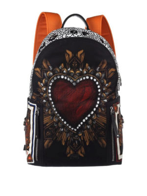 Dolce & Gabbana: backpacks - Vulcano printed nylon backpack