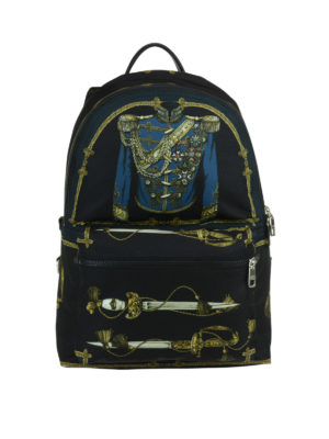Dolce & Gabbana: backpacks - Vulcano swords print backpack