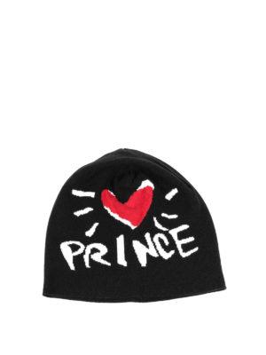 Dolce & Gabbana: beanies - Prince intarsia cashmere beanie