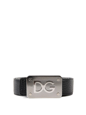 DOLCE & GABBANA: cinture - Cintura reversibile nera e blu