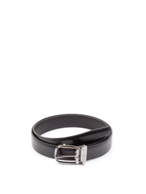 Dolce & Gabbana: belts - Black leather classic belt