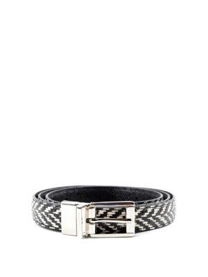 Dolce & Gabbana: belts - Dauphine leather belt