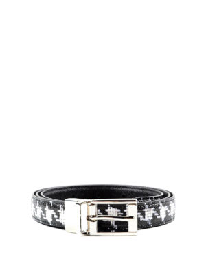 Dolce & Gabbana: belts - Dauphine leather belt