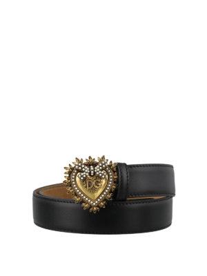 DOLCE & GABBANA: cinture - Cintura in pelle Devotion