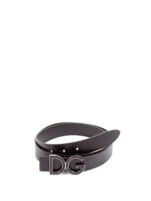 Dolce & Gabbana: belts - DG buckled leather belt