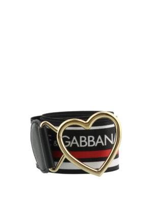 DOLCE & GABBANA: cinture - Cintura elastica con fibbia a cuore