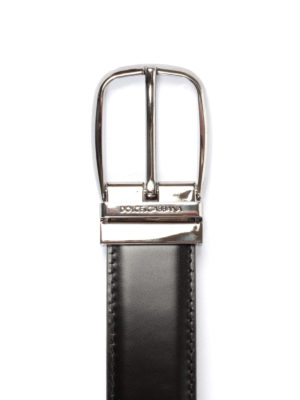 Dolce & Gabbana: belts online - Black leather classic belt