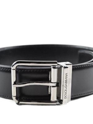 Dolce & Gabbana: belts online - Brushed leather belt