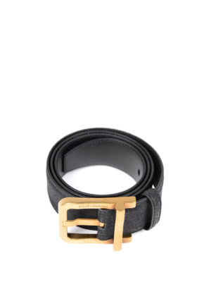 Dolce & Gabbana: belts online - Crackle leather belt