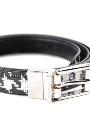 Dolce & Gabbana: belts online - Dauphine leather belt