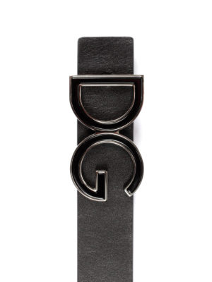 Dolce & Gabbana: belts online - DG buckled leather belt