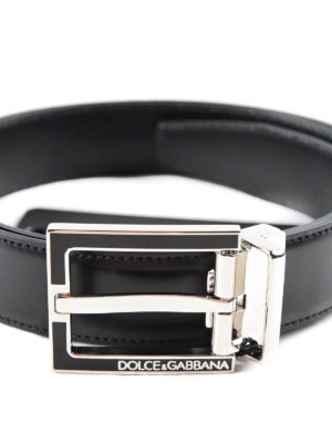 Dolce & Gabbana: belts online - Enamel buckle leather belt