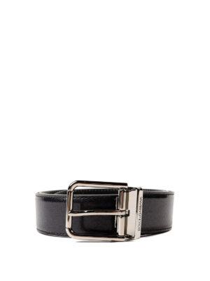 DOLCE & GABBANA: cinture - Cintura lucida nera
