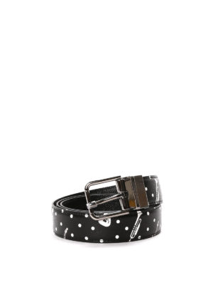Dolce & Gabbana: belts - Printed leather reversible belt
