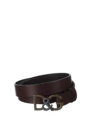 DOLCE & GABBANA: cinture - Cintura D&G in cuoio bottalato