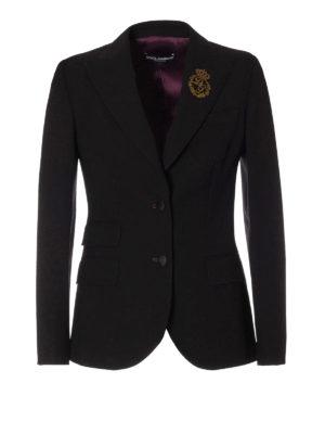 Dolce & Gabbana: blazers - Filigree logo embroidery blazer