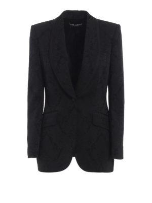 DOLCE & GABBANA: giacche blazer - Blazer in jacquard stretch floreale