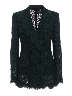 Dolce & Gabbana: blazers - Lace blazer with tulle lining