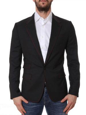 Dolce & Gabbana: blazers online - Contrasting stitching wool blazer