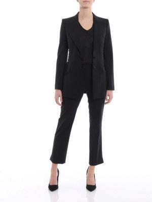 Dolce & Gabbana: blazers online - Corset lace detail cool wool blazer