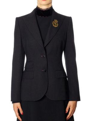 Dolce & Gabbana: blazers online - Filigree logo embroidery blazer