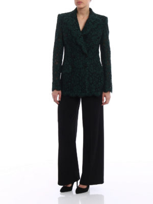Dolce & Gabbana: blazers online - Lace blazer with tulle lining