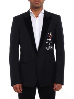 Dolce & Gabbana: blazers online - Prince embroidery wool blazer