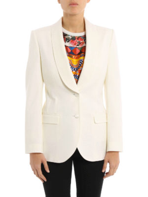 Dolce & Gabbana: blazers online - Shawl lapels detail wool blazer