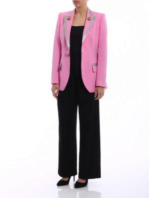 Dolce & Gabbana: blazers online - Stretch wool blazer with roses