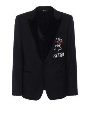 Dolce & Gabbana: blazers - Prince embroidery wool blazer