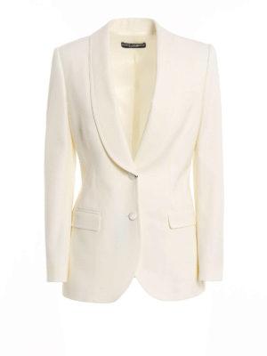 Dolce & Gabbana: blazers - Shawl lapels detail wool blazer