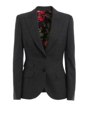 Dolce & Gabbana: blazers - Wool blend single-breasted blazer