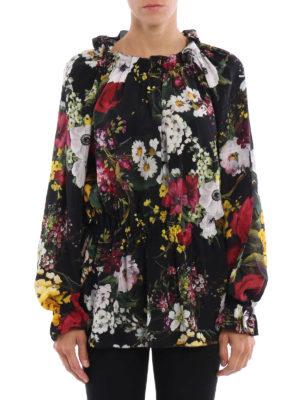 Dolce & Gabbana: blouses online - Floral print silk blouse