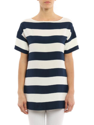 Dolce & Gabbana: blouses online - Lightweight crepe striped blouse