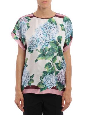 Dolce & Gabbana: blouses online - Ortensia print silk blouse