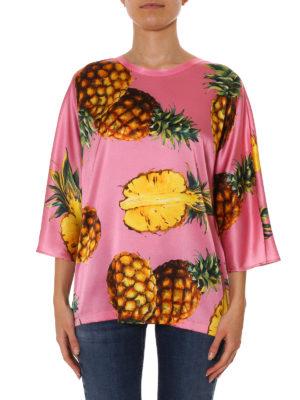 Dolce & Gabbana: blouses online - Pineapple print silk blouse