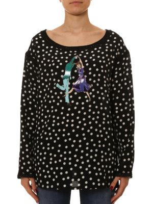 Dolce & Gabbana: blouses online - Polka-dot silk blend blouse