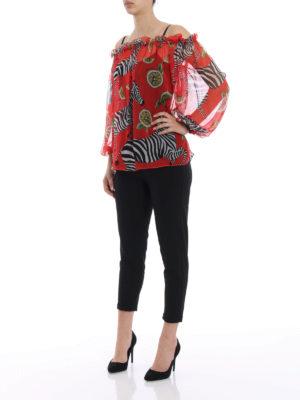 Dolce & Gabbana: blouses online - Printed silk chiffon blouse