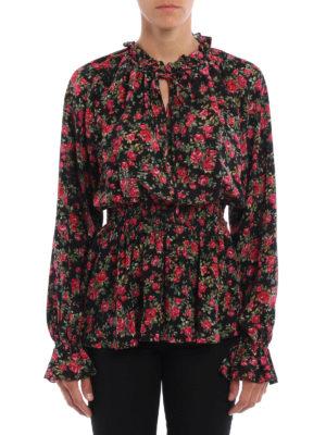 Dolce & Gabbana: blouses online - Small rose print silk blouse