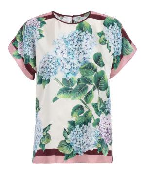 Dolce & Gabbana: blouses - Ortensia print silk blouse