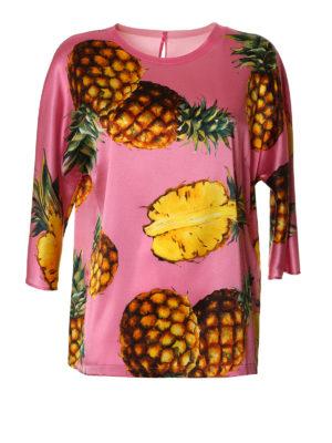 Dolce & Gabbana: blouses - Pineapple print silk blouse