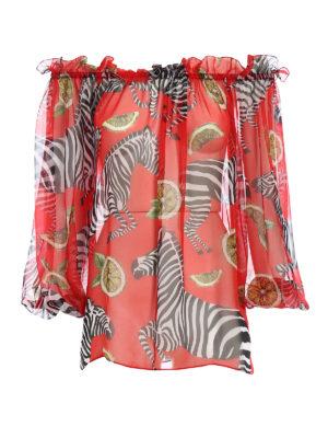 Dolce & Gabbana: blouses - Printed silk chiffon blouse