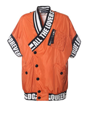 DOLCE & GABBANA: giacche bomber - Bomber in nylon #amorepersempre