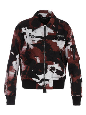 DOLCE & GABBANA: bombers - Camouflage bomber jacket
